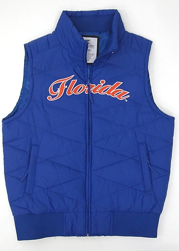 Florida Gators Womens Blue Bubble Vest Jacket by Colosseum