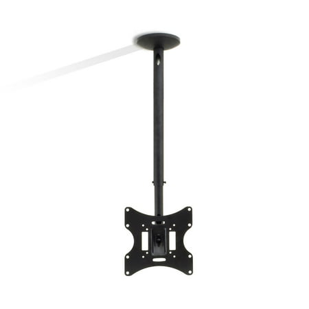 "PYLE PCTVM15 - Universal Tilt, Swivel and Height Adjustable TV Ceiling Mount Bracket Fits Virtually All 23"" - 42'' TVs (Flat Panel HDTV, LCD, LED, Plasma and Smart TVs)"