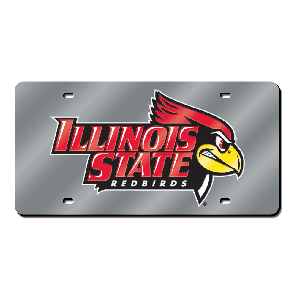 Illinois State Redbirds NCAA Laser Cut License Plate Cover