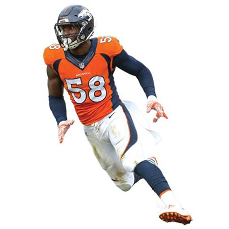 Von Miller Denver Broncos Fathead Life Size Removable Wall Decal - No Size