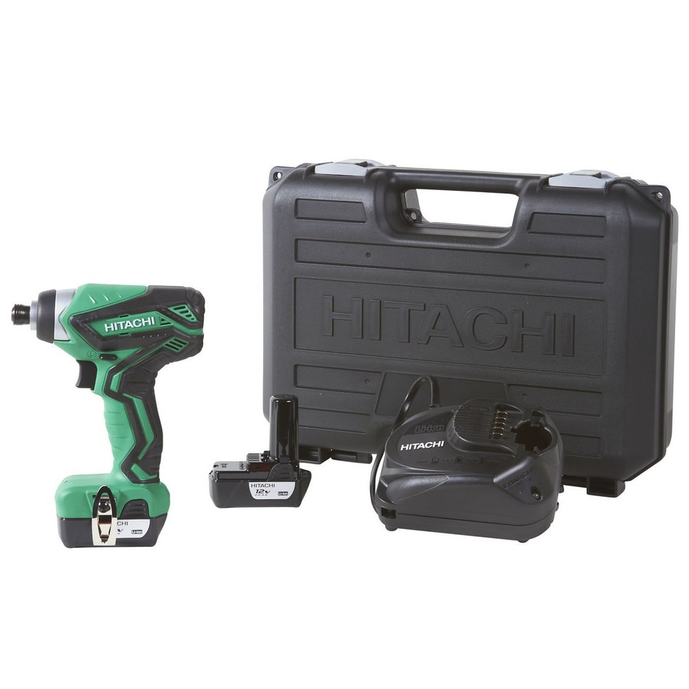 Factory-Reconditioned Hitachi WH10DFL2 12V Peak Cordless Lithium-Ion 1/4 in. Hex Impact Driver (Refurbished)