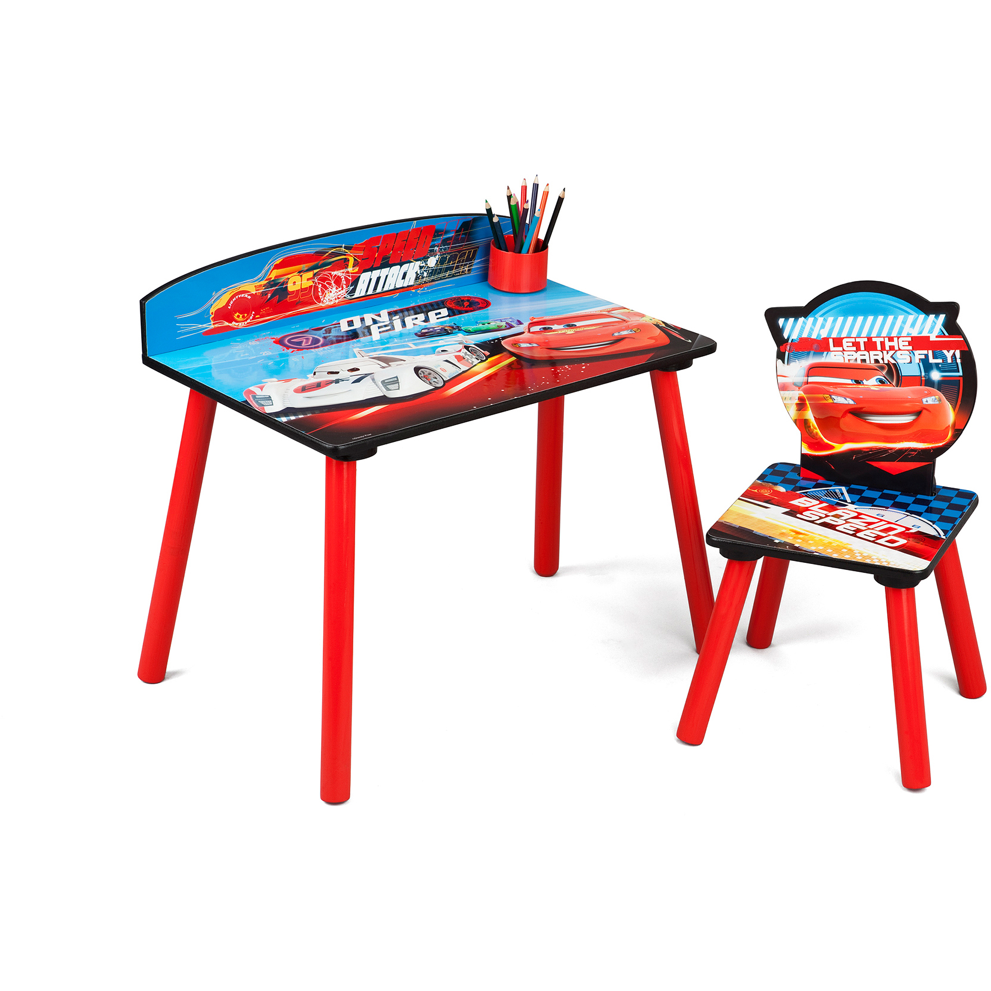 disney cars desk and chair set walmart com