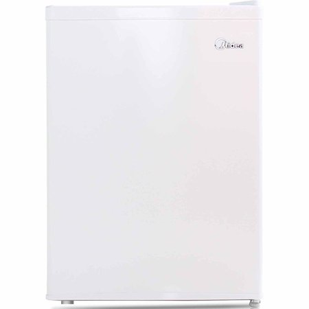 Midea 2.4 Cu Ft Compact Refrigerator with Freezer WHS-87LW1, White (24 Refrigerator Bottom Freezer)