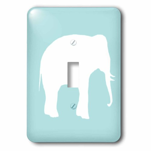 3dRose lsp/_159844/_2 Plain Mint Blue Light Turquoise-Grey-Gray Modern Contemporary Simple Pastel Teal Solid Color Double Toggle Switch