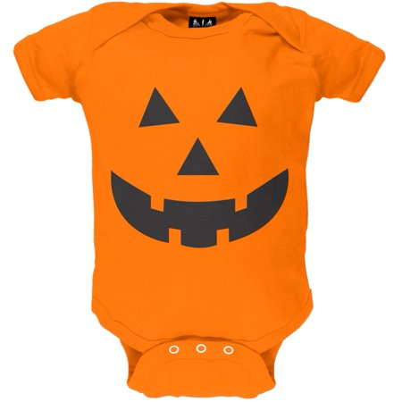 Halloween Jack-O-Lantern Face Baby One Piece