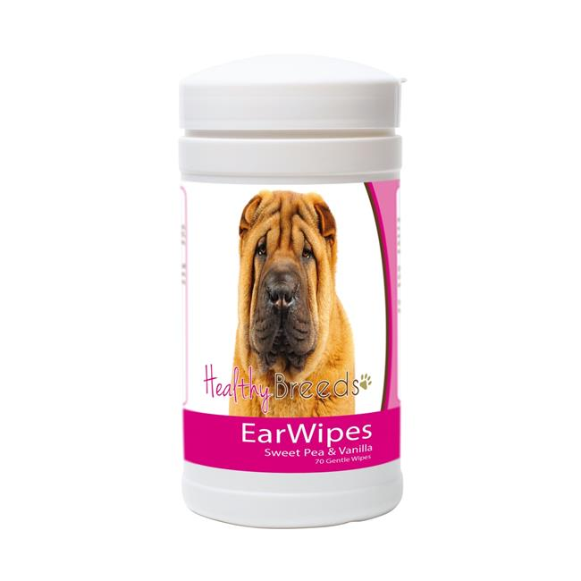 Healthy Breeds 840235150046 Chinese Shar Pei Ear Wipes - image 1 de 1