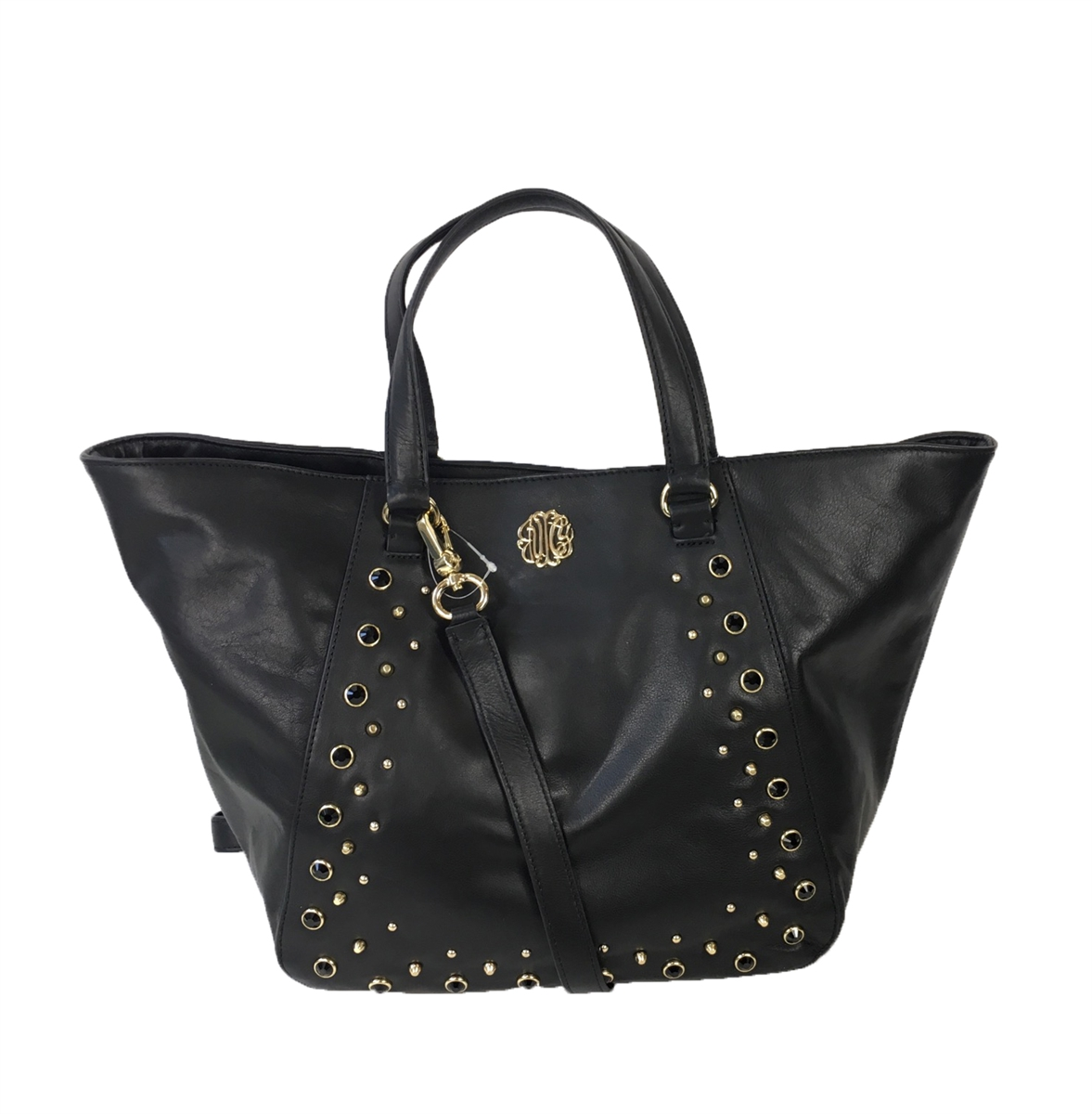 Juicy Couture Hollywood Leather Large Tote Bag, Black