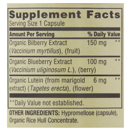 Spring Valley Bilberry Extract Vegetarian Capsules, 150 mg, 90 count