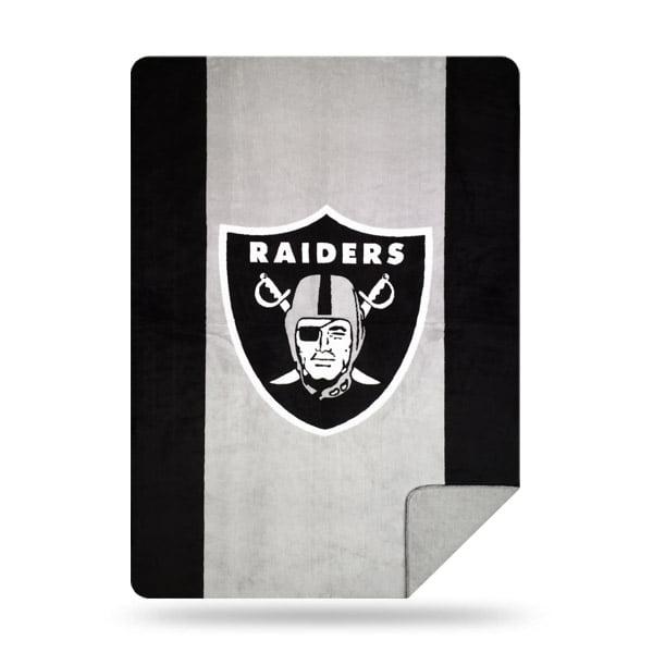 Oakland Raiders The Northwest Company 60'' x 72'' Denali Silver Knit Throw - No Size