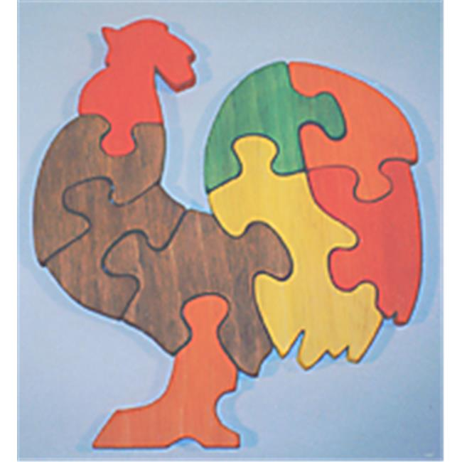 THE PUZZLE-MAN TOYS W-1171 Wooden Educational Jig Saw Puzzle - Rooster - image 1 de 1