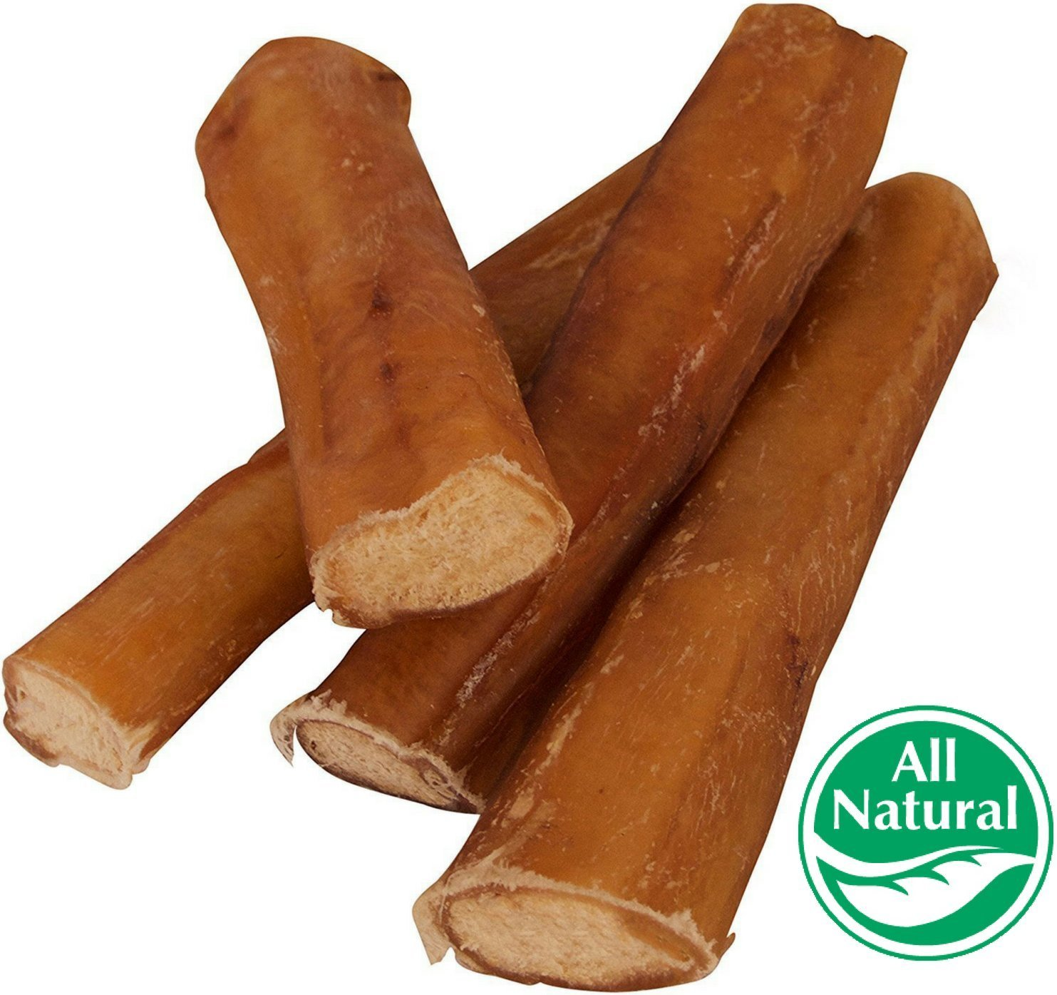 "5"" Straight Bully Sticks for Dogs [Large Thickness] (50 Pack) - Natural Low Odor Bulk Dog Dental Treats, Best Thick Pizzle Chew Stix, 5 inch, Chemical Free"