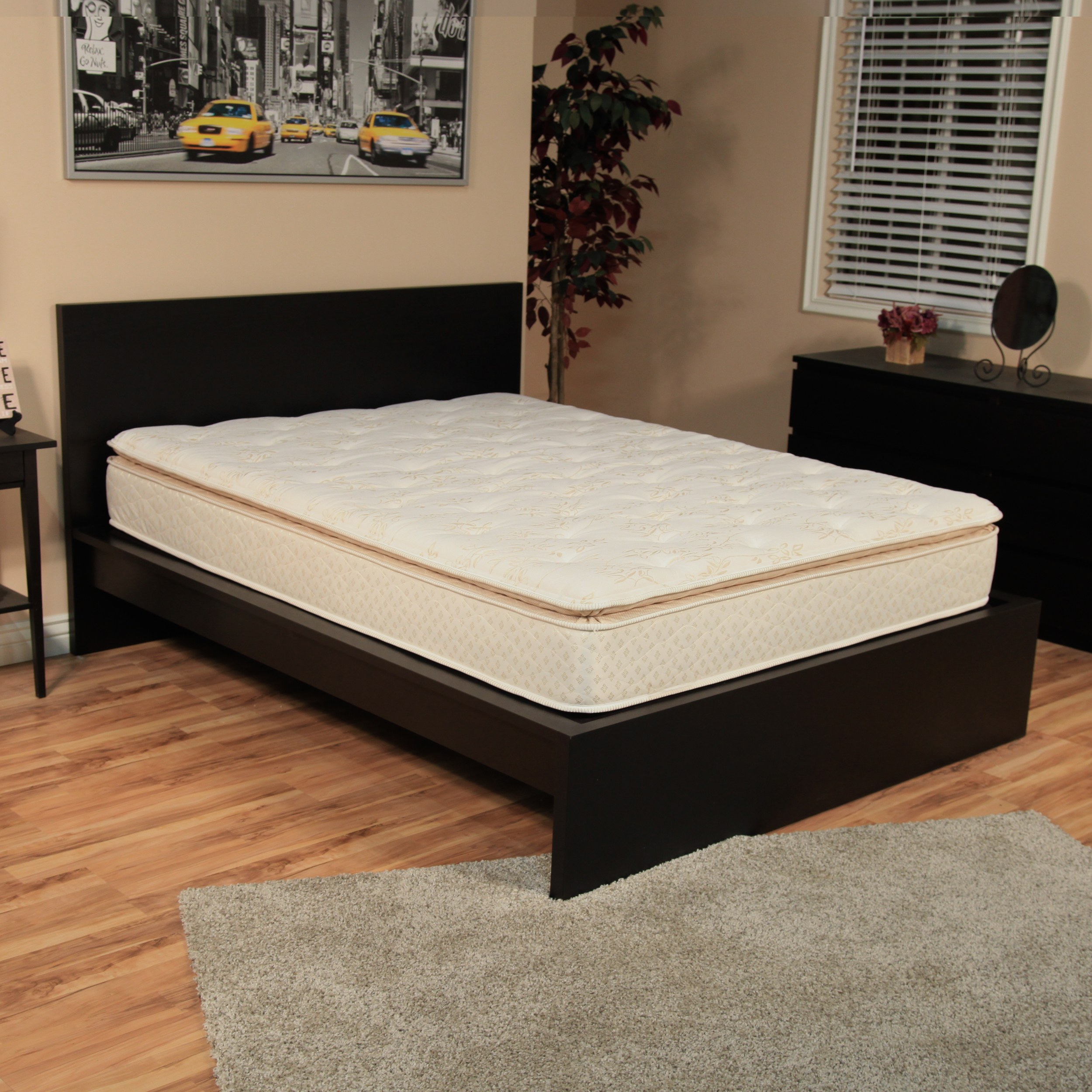 nuform quilted pillow top 11 inch full xl size foam mattress steel bed frame