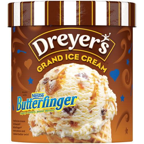 EDY'S/DREYER'S Grand Nestle Butterfnger Ice Cream 1.5 qt. Carton