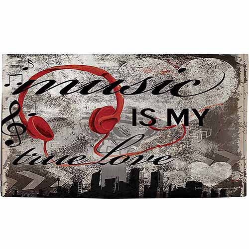 "Thumbprintz Music is My True Love Rug, 22.5"" x 37"""