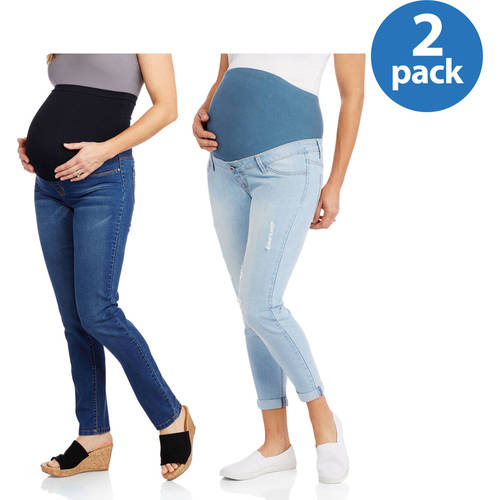 Planet Motherhood Maternity Jeans, 2-Pack Bundle Your Choice