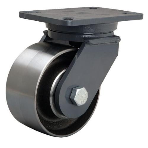 HAMILTON Plate Caster,Swivel,Forged Steel,6 in,4000 lb, S-CH-63FSB
