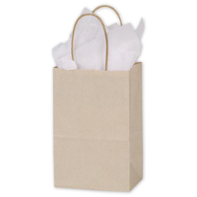 Bags & Bows by Deluxe 15-050308-30 Oatmeal Shoppers - Case of 250