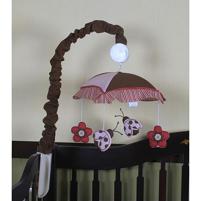 Geenny Ladybug and Flower Musical Mobile