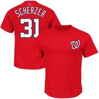 Max Scherzer Washington Nationals #31 MLB Men's Player T-shirt Red (Small)