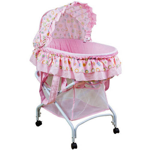 Dream On Me, Layla 2 In 1 Bassinet To Cradle-Color:Baby Pink
