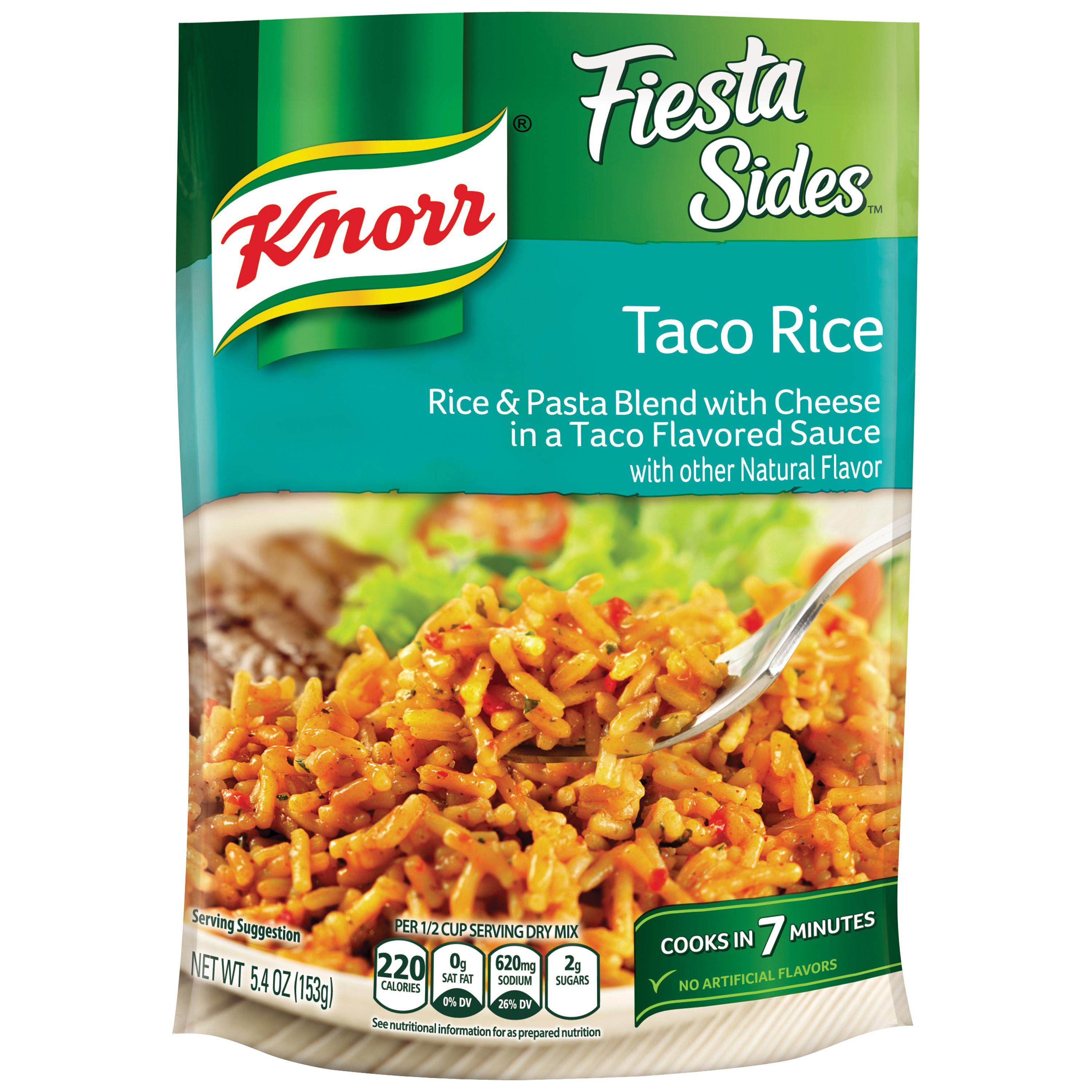 Knorr Fiesta Sides Taco Rice Rice Side Dish, 5.4 oz by Unilever