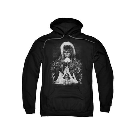 Labyrinth 1980's Movie David Bowie Castle Sarah Jareth Adult Pull-Over Hoodie - Lamb Hoodie