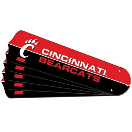 Ceiling Fan Designers 7992-CIN Nouveau jeu de pales de ventilateur de plafond NCAA CINCINNATI BEARCATS 42 po - image 1 de 1