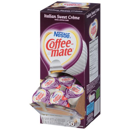 (Pack of 4) Coffee-Mate Italian Sweet Creme Liquid Coffee Creamer 50 ct Box