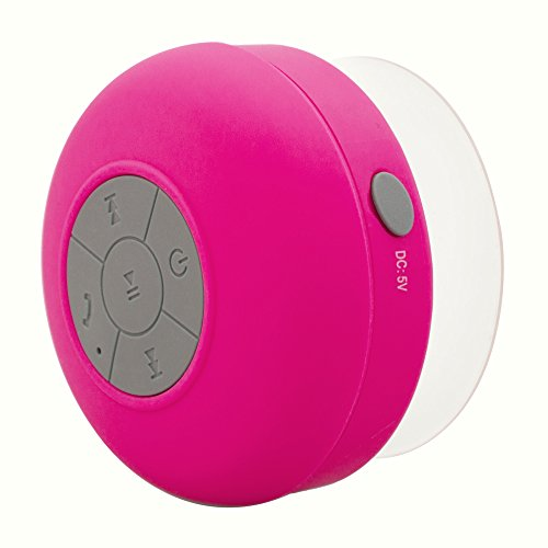 Soundplus Waterproof Portable Bluetooth Shower Speaker, 6 Hours Playtime, with Built in Mic. Yellow