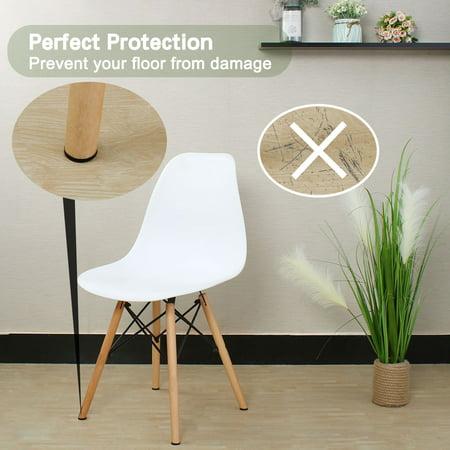 "Felt Furniture Feet Pads Round 1"" Dia Self Adhesive Floor Protector 24pcs - image 4 of 7"