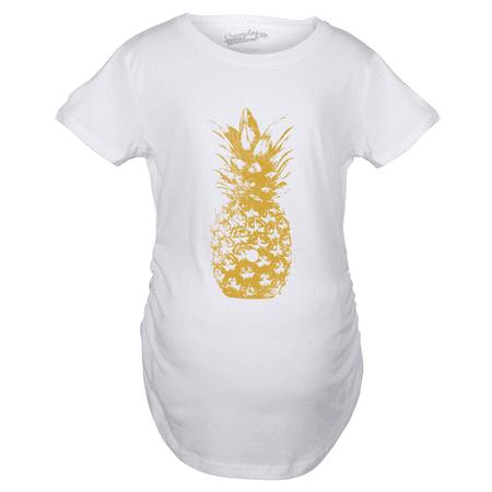 Maternity Pineapple Graphic Tshirt Cute Trendy Fruit Pregnancy Tee