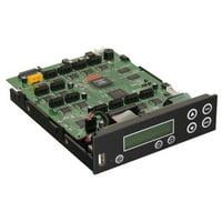 Bestduplicator Premium Series - Flash to Disc SATA CD/DVD/Blu Ray Duplicator Controller (1 to 11) - 11 Target Controller