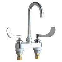CHICAGO FAUCETS Bar Faucet,1.5 gpm,3-1/2 in. L Spout 895-317E35ABCP