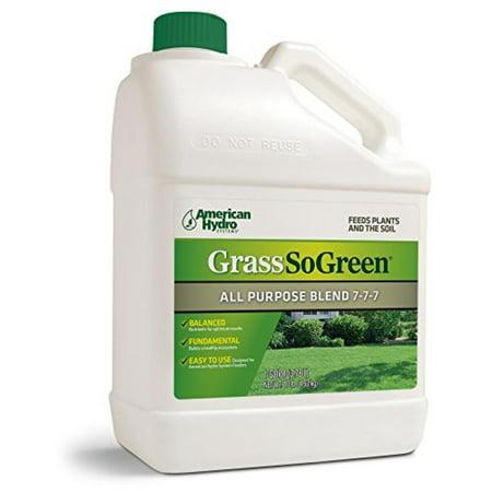 American Hydro Systems F4G-1 Grass So Green All Purpose Blend Fertilizer, 7-7-7, 1 Gallon