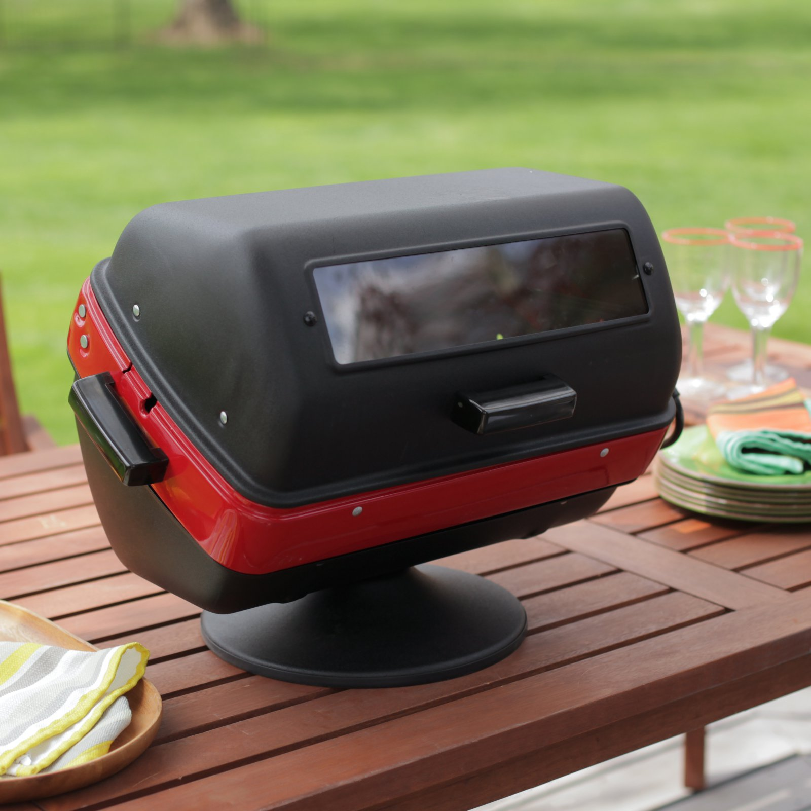 Americana 1500-Watt Deluxe Electric Table Top Grill with Rotisserie