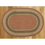 Capitol Earth Rugs 19-024 Olive-Burgundy-Gray Jute Braided Rug