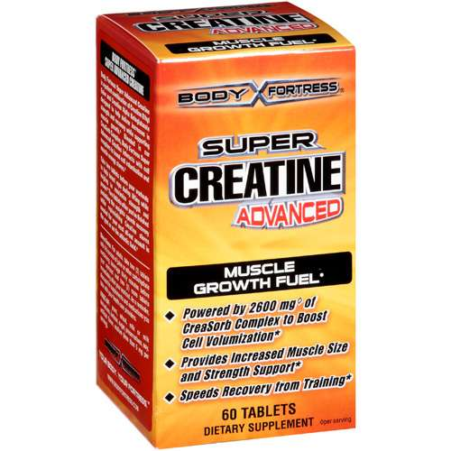 Body Fortress Super Creatine Advanced Muscle Growth Fuel Dietary Supplement 60 ct