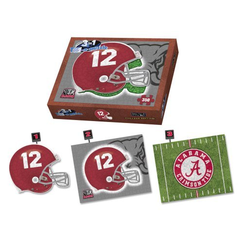 Arkansas Razorbacks Helmet 3 in 1 Puzzle,  Arkansas Razorbacks by Late For The Sky Production Co.
