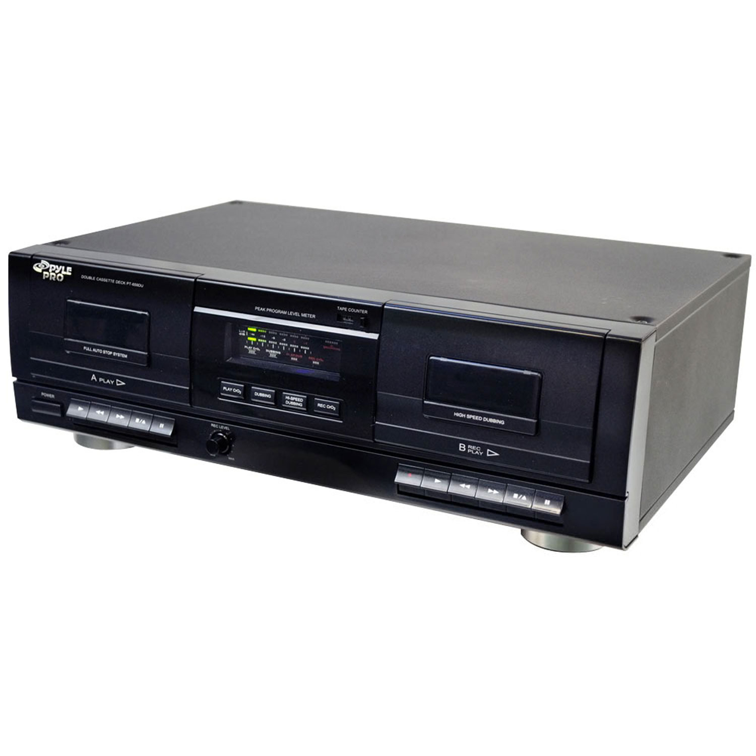 Pyle Dual Stereo Cassette Deck w/Tape USB to MP3 Converter