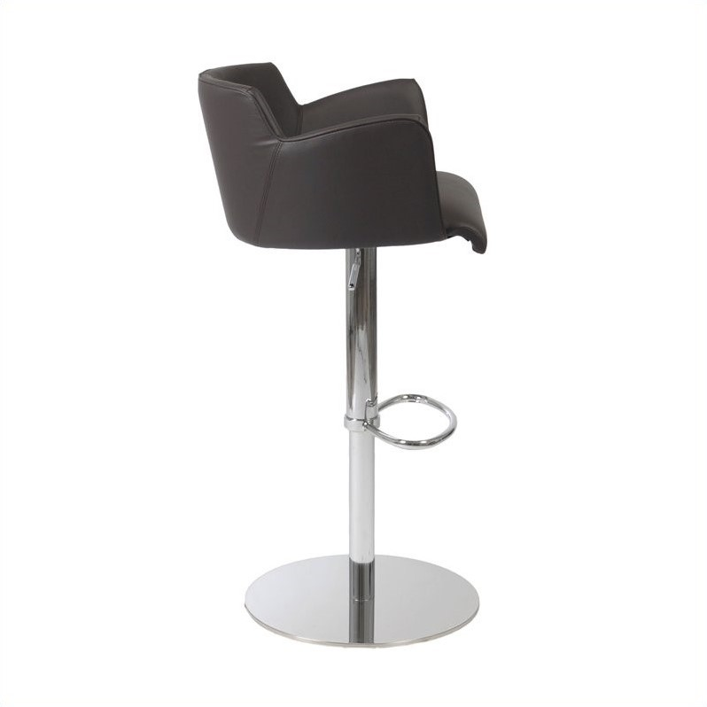 Adjustable Bar Stool in Brown and Chrome - image 1 de 4
