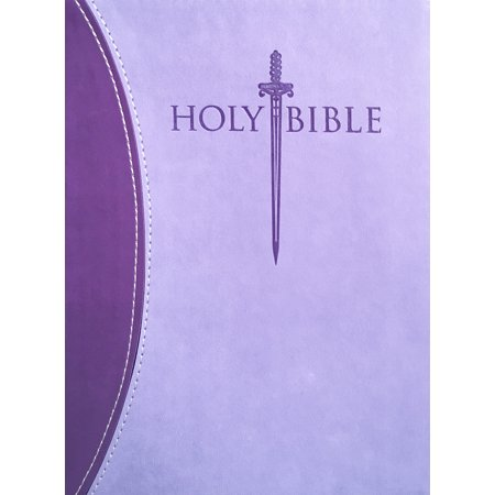 KJVER Sword Study Bible Personal Size Large Print Dark Purple Light Purple Ultrasoft Indexed : King James Version Easy