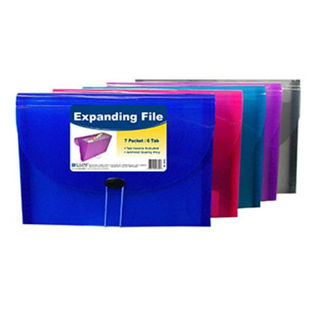 Insertable Tab Expanding File (C-Line Products Inc CLI58300 C Line Expanding File 7 Pocket 6 Tab )