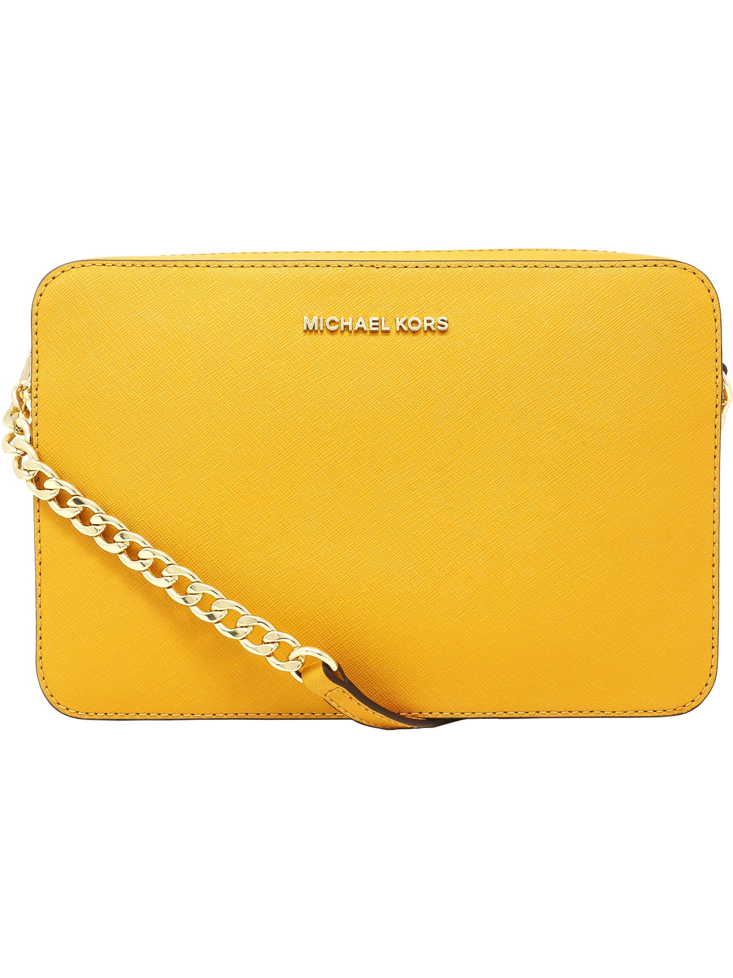 Michael Kors Large Jet Set Saffiano Leather Crossbody Satchel - Marigold