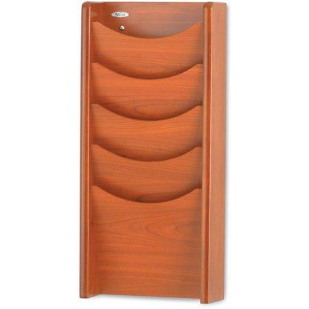 Safco, SAF4330CY, 5-Pocket Wood Magazine Rack, 1 Each, Cherry