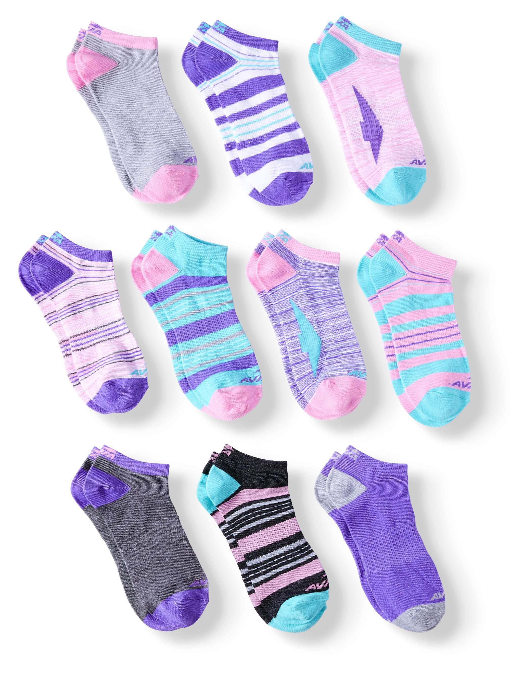 Ladies Color Pulse Socks, 10 Pack