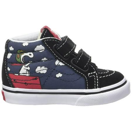 Vans Toddlers Sk8-Mid Reissue V (Peanuts) Skate Shoe - Vans For Toddler