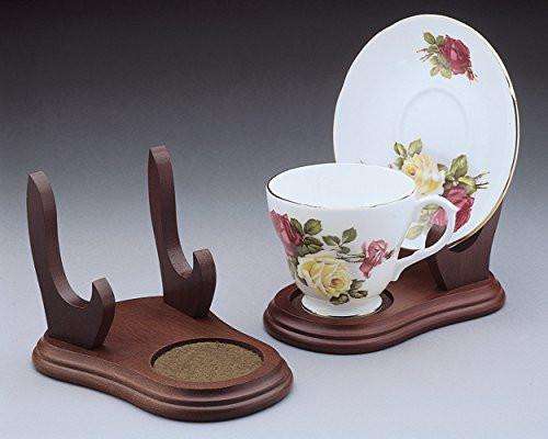 Plate Display Stands Walmart Set of 40 Stands Cup and Saucer Wood Display Stands Walnut 21  sc 1 st  Home Decor Accents : plate display stands walmart - pezcame.com