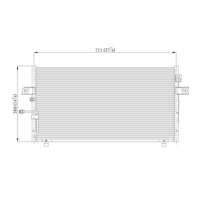 Air Conditioning Condenser for Infiniti I30, I35, Nissan Maxima NI3030147