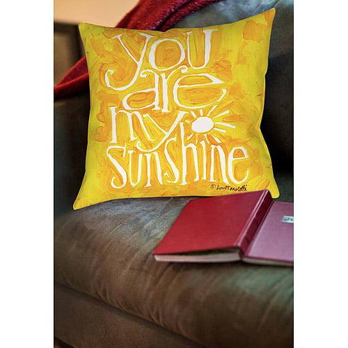 Thumbprintz You are my Sunshine Indoor Pillow