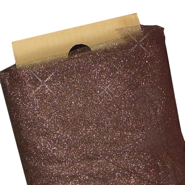 "Brown Sparkling Tulle 54"" X 40 Yards by Paper Mart"